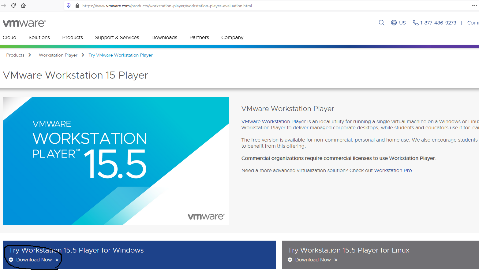 Download VMware Workstation Player