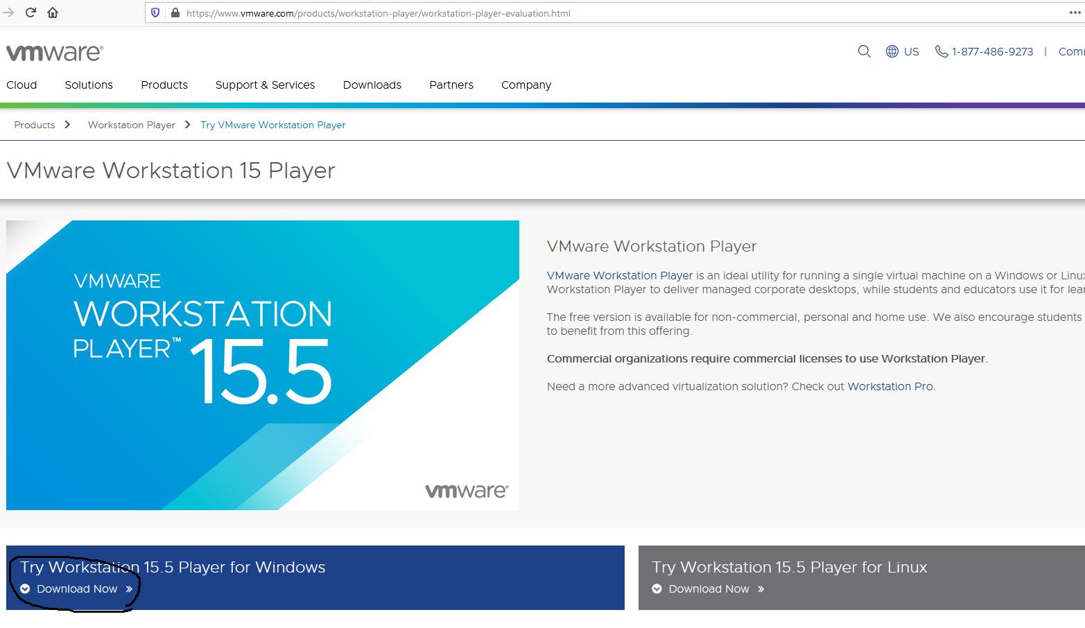 Download VMware Workstation Player