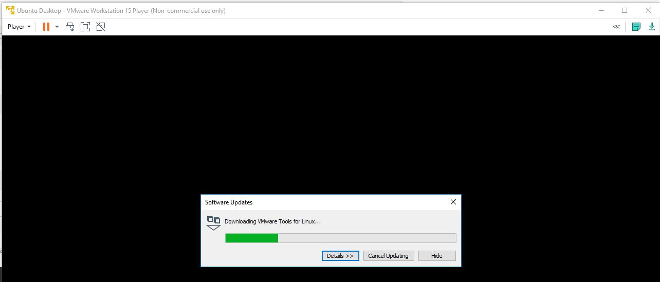 VMware Tools Progress
