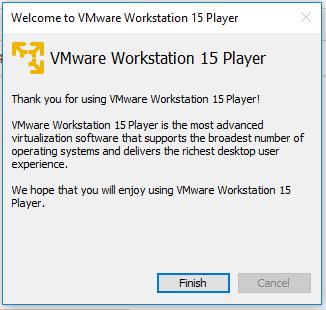 VMware Workstation Player - Confirm License