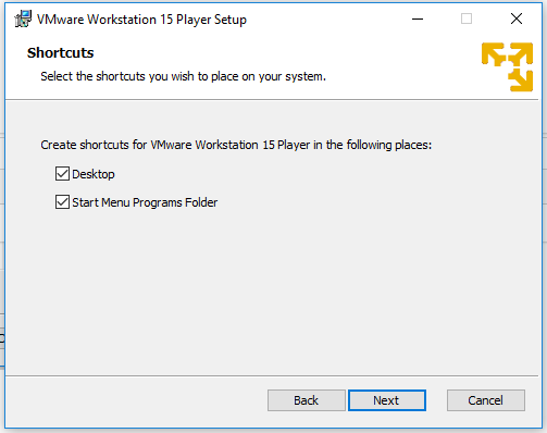 VMware Workstation Player - Shortcuts