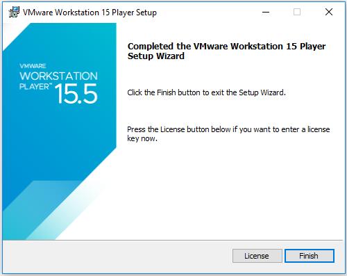 VMware Workstation Player - Installation Success