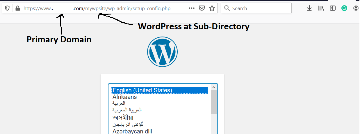 Remote Server Using Sub-Directory