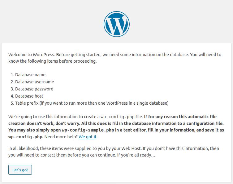 WordPress Instructions
