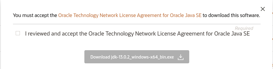 Java 13 - License Agreement