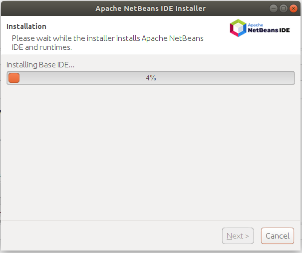NetBeans - Installation Progress