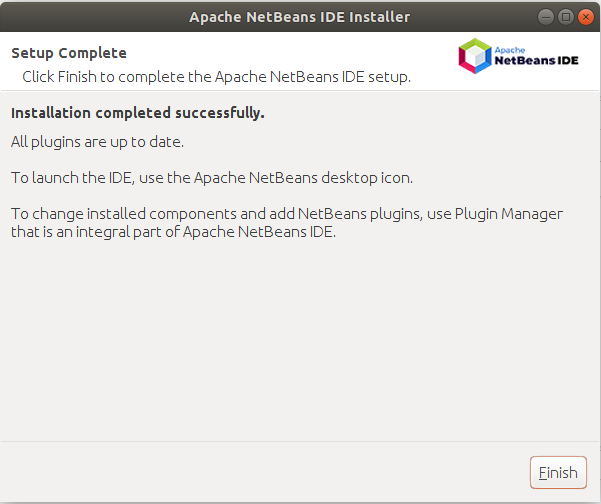 NetBeans - Installation Success