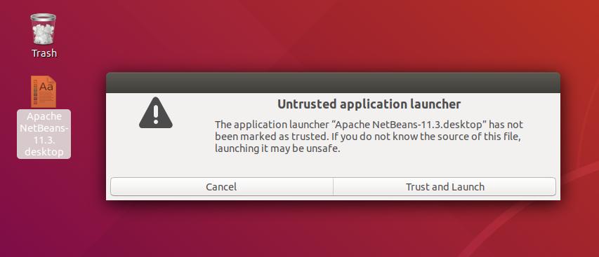 NetBeans - Desktop Launcher
