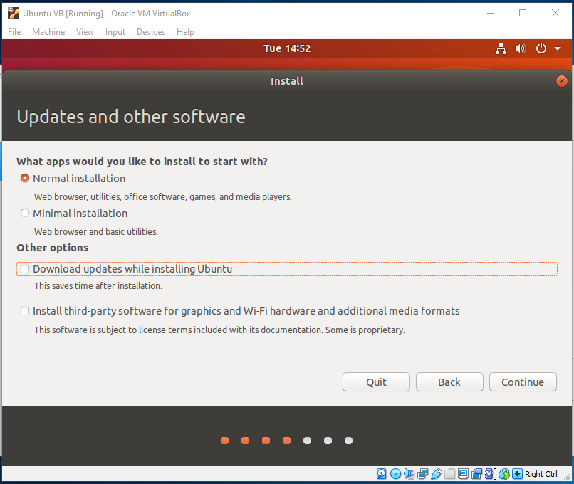 Ubuntu On VirtualBox - Installation Type