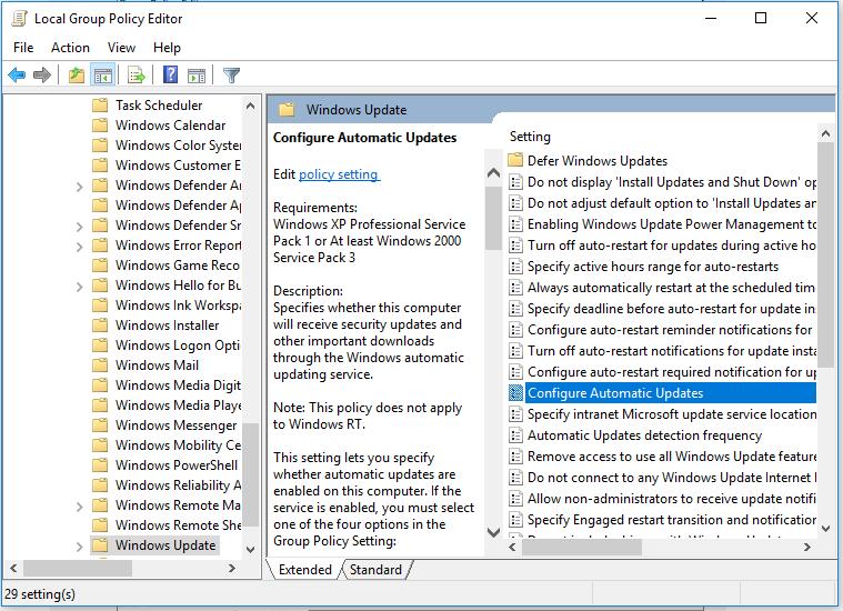Windows - Configure Automatic Updates