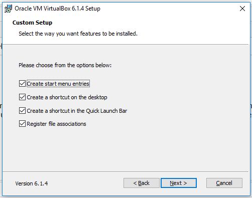 VirtualBox - Custom Setup