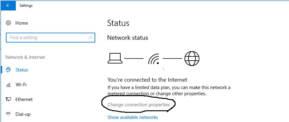 Windows Connection Status