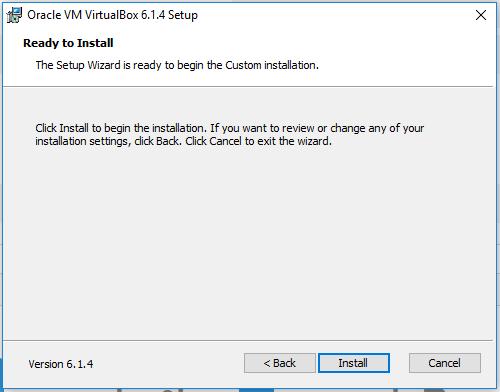VirtualBox - Ready to Install