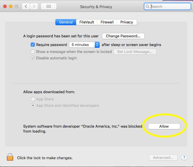 VirtualBox - macOS - Allow Installation