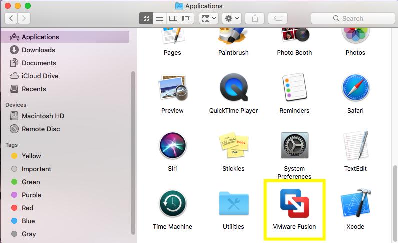 VMware Fusion - App