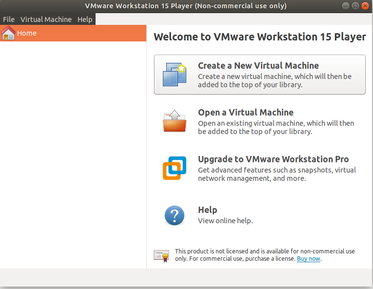 VMware - Ubuntu - Welcome