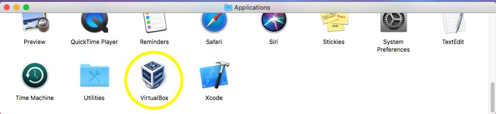 VirtualBox - macOS - Applications
