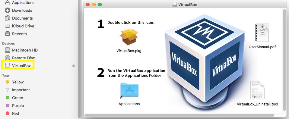 VirtualBox - macOS - Welcome