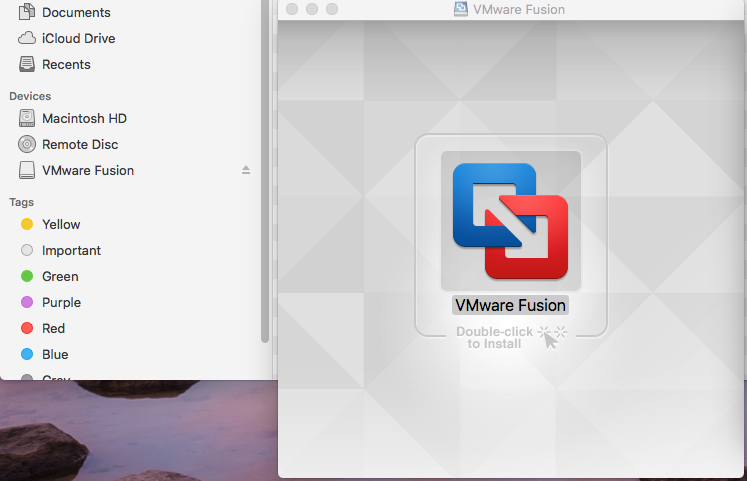 VMware Fusion - Welcome