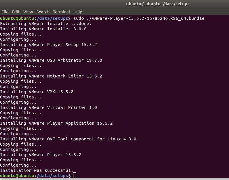 VMware - Ubuntu - Install