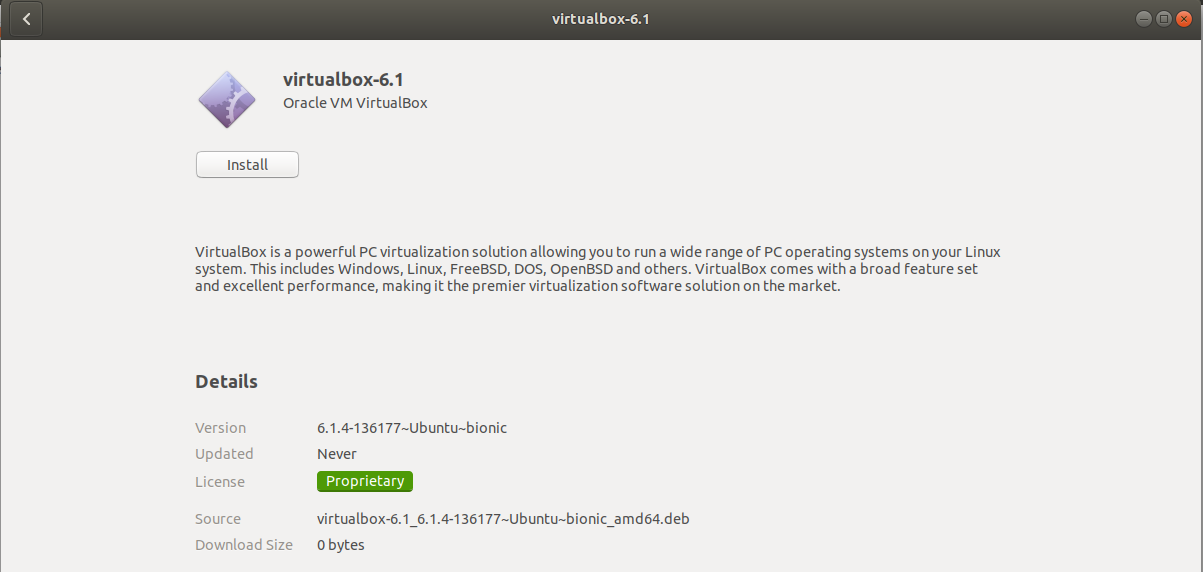 VirtualBox - Ubuntu - Execute Installer