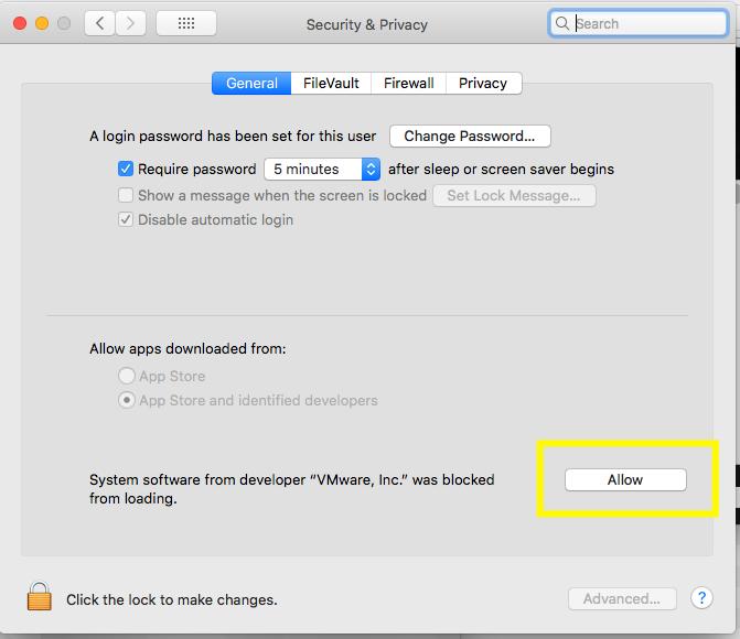 VMware Fusion - Permissions