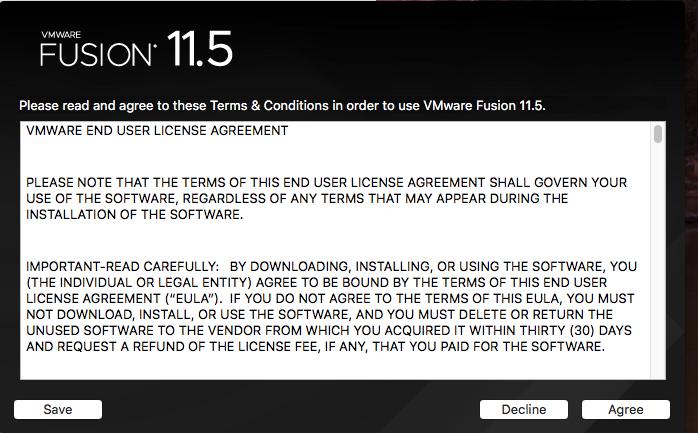 VMware Fusion - License