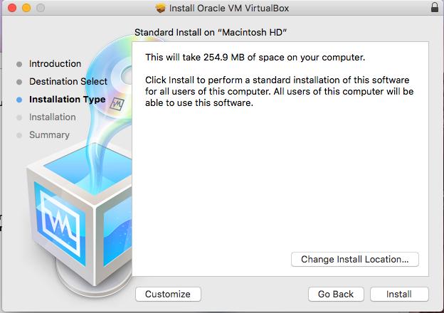 VirtualBox - macOS - Installation Path