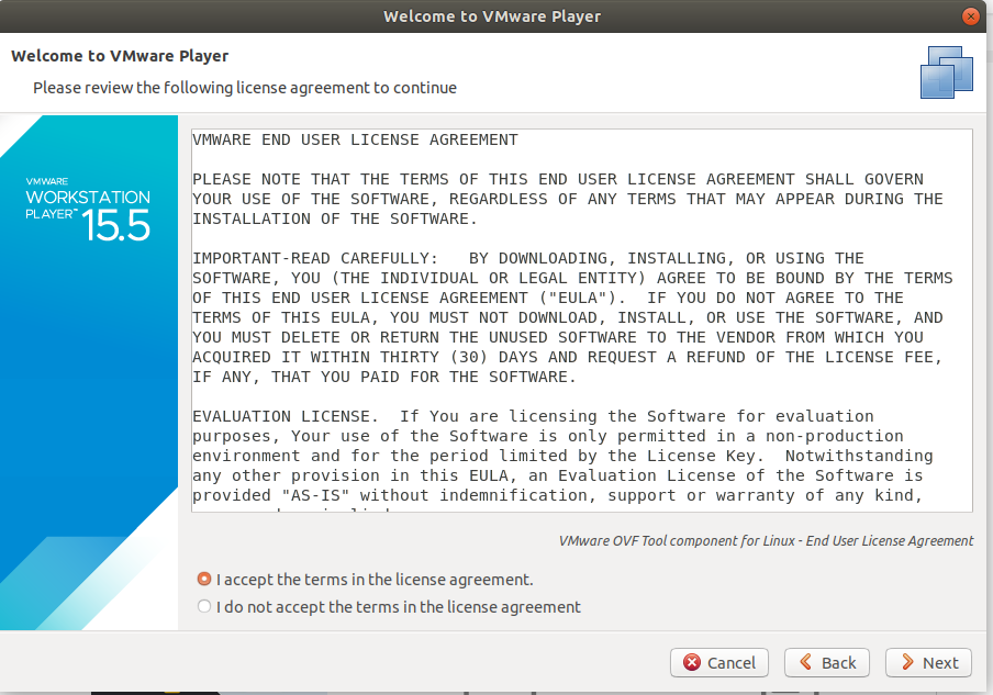 VMware - Ubuntu - OVF License