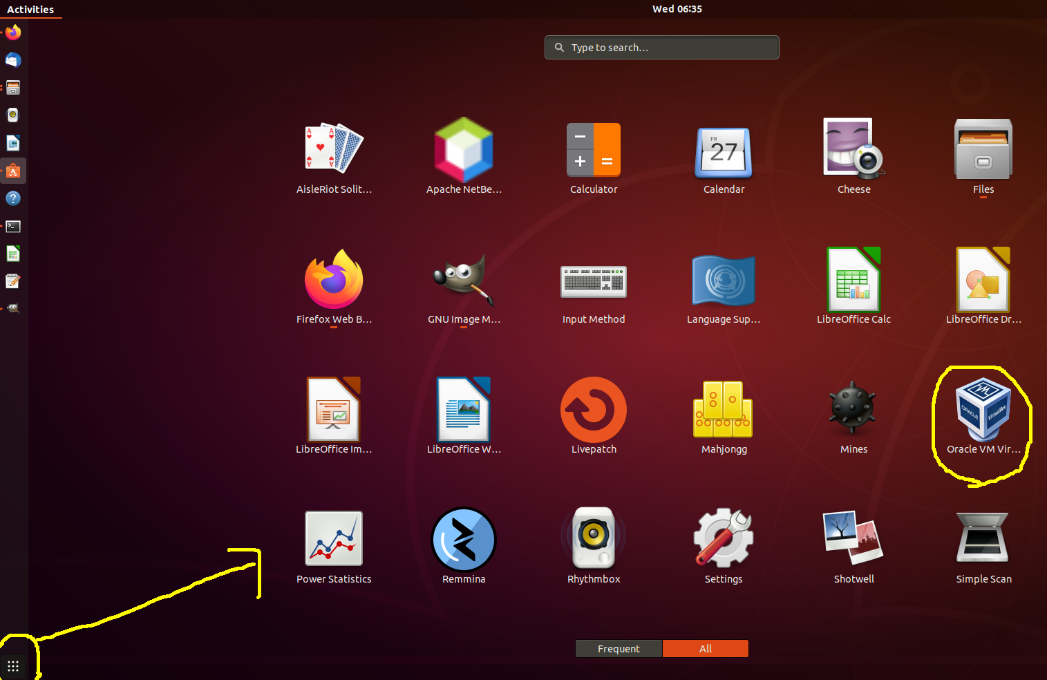 VirtualBox - Ubuntu - Application