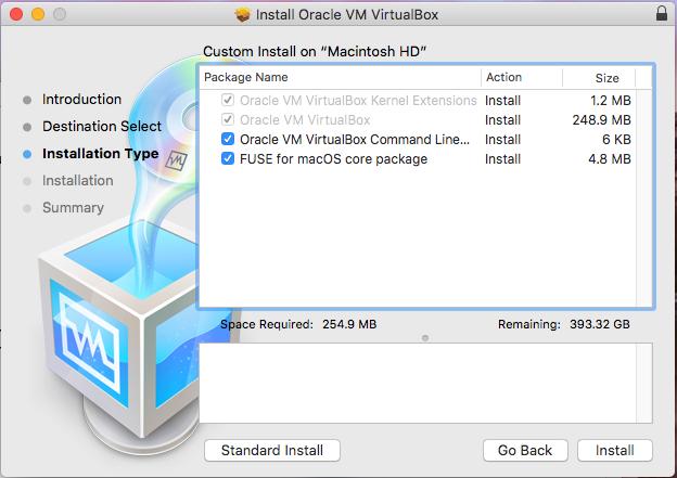 VirtualBox - macOS - Custom Options