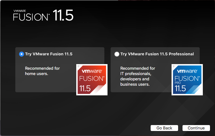 VMware Fusion - Regular or Pro