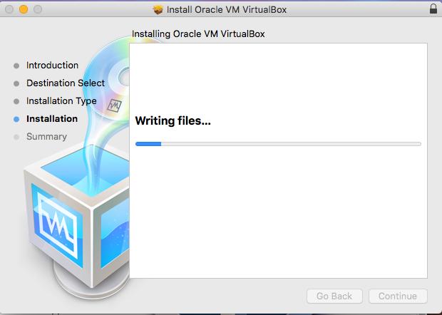 VirtualBox - macOS - Installation Progress