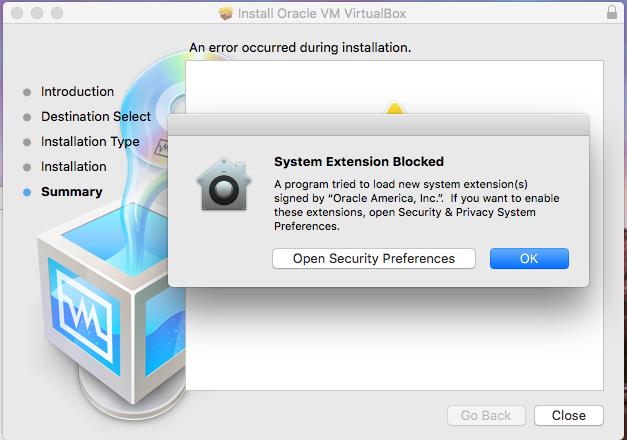 VirtualBox - macOS - Permission Error