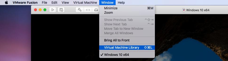 VMware Fusion - Delete Virtual Machine - Show All