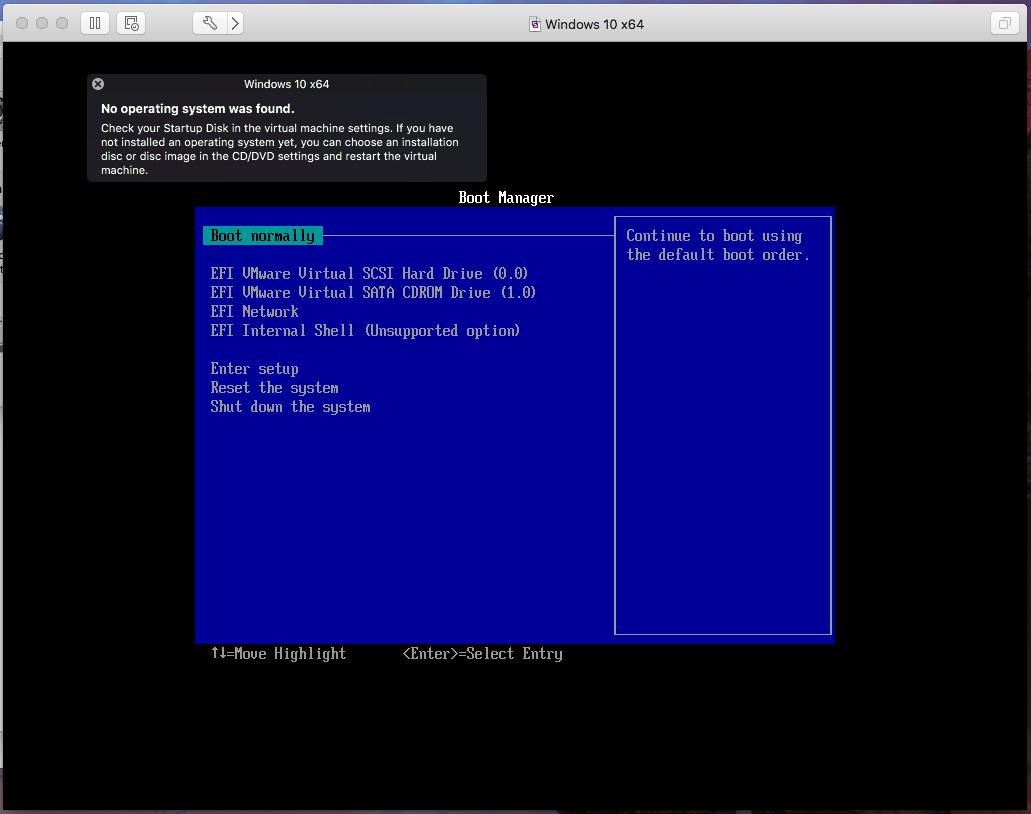 Windows - VMware Fusion - Hardware Error