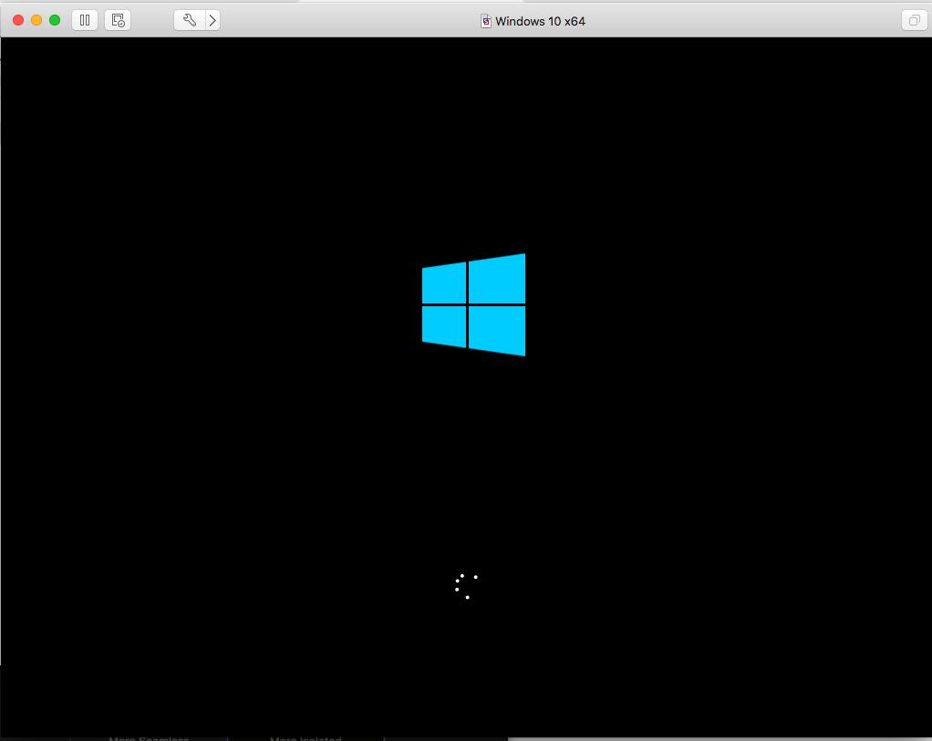 Windows - VMware Fusion - Loading
