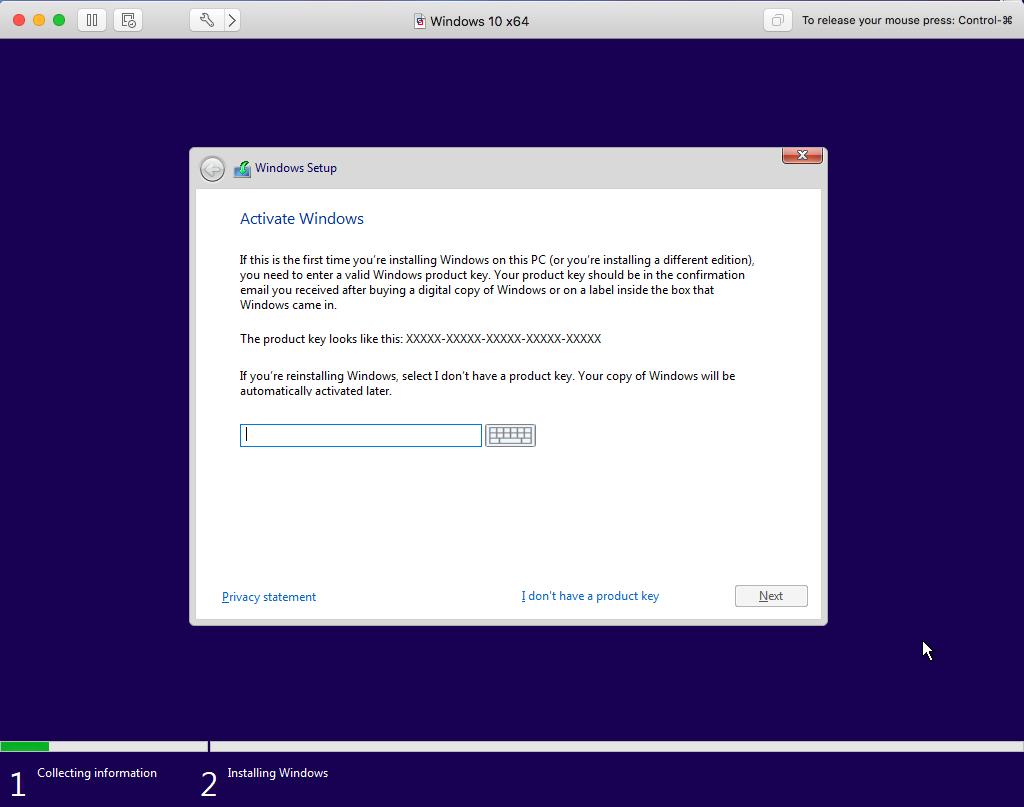 Windows - VMware Fusion - Activation Key