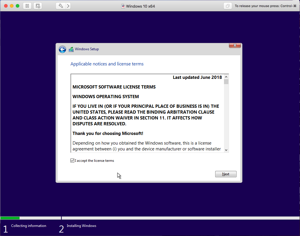 Windows - VMware Fusion - License Agreement