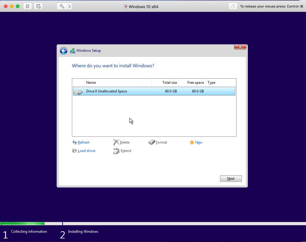 Windows - VMware Fusion - Disk