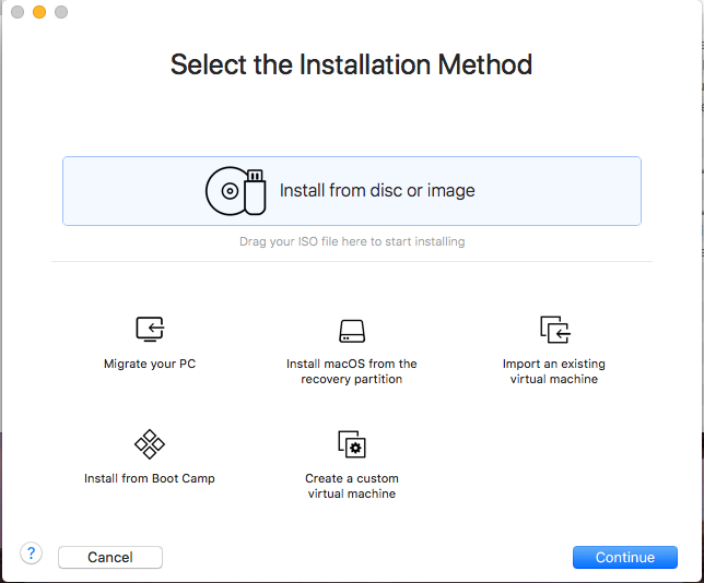 Windows - VMware Fusion - Installation Method