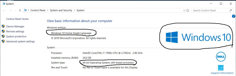 Windows Version Details
