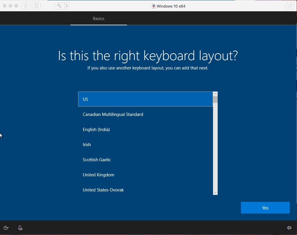 Windows - VMware Fusion - Keyboard Layout