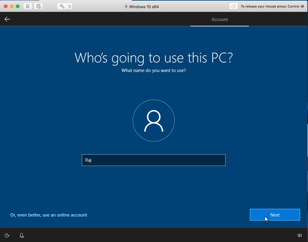 Windows - VMware Fusion - User