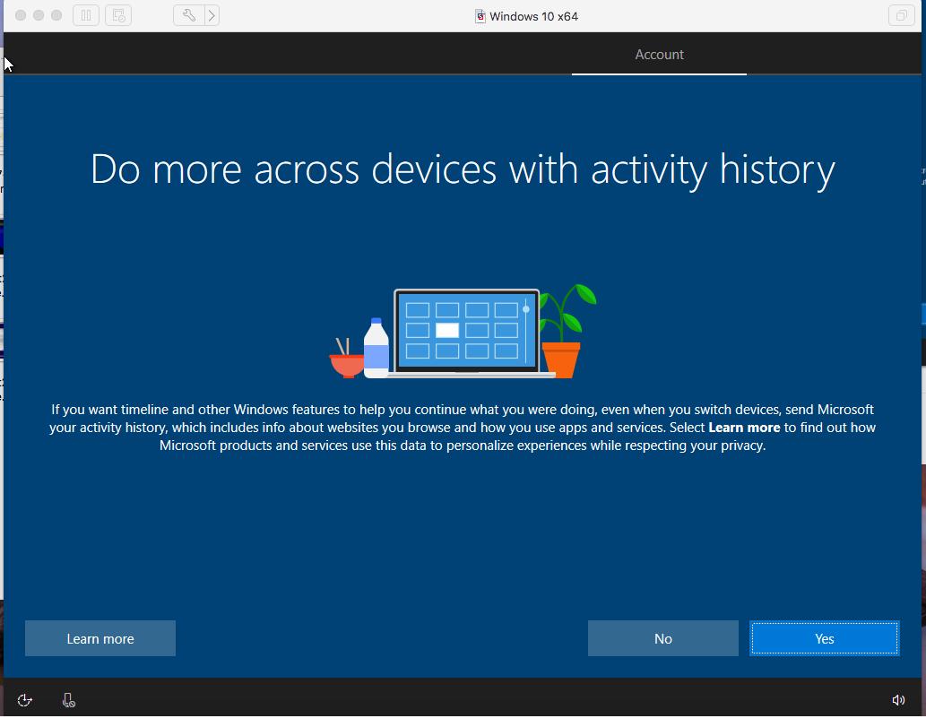Windows - VMware Fusion - Activities