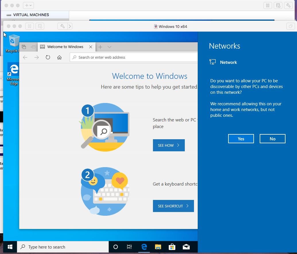 Windows - VMware Fusion - Networks