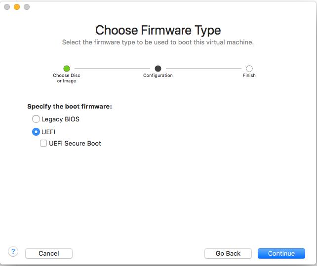 Windows - VMware Fusion - Firmware