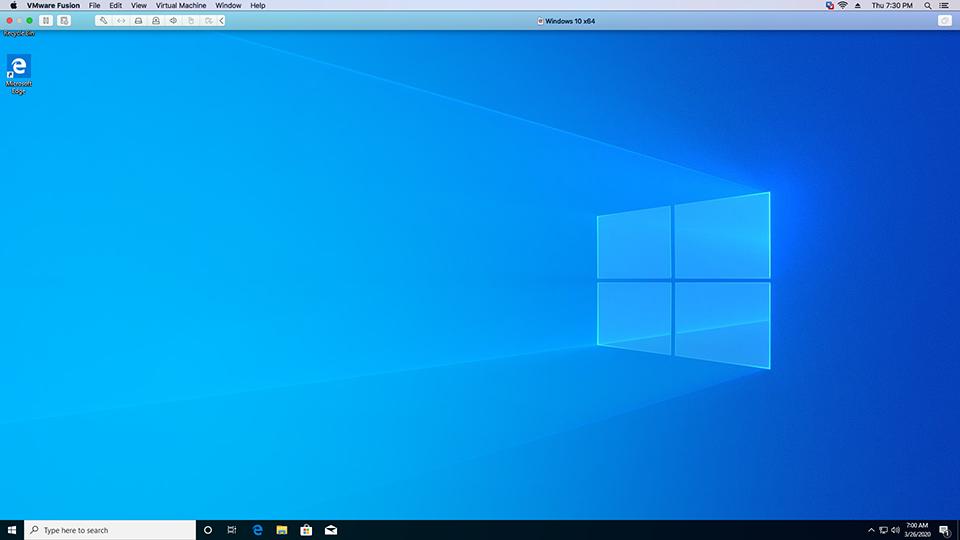 Windows - VMware Fusion - Full Screen