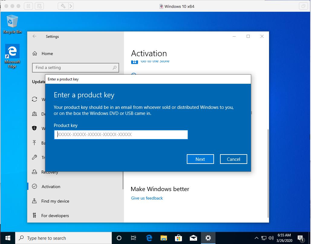 Windows - VMware Fusion - Activate