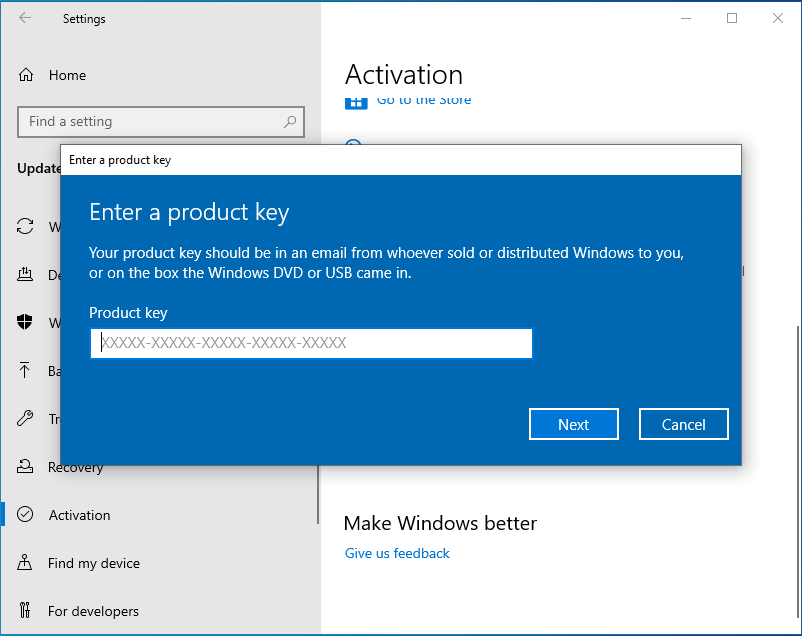 Activate Windows - Activation Key